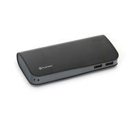 PLATINET POWER BANK LEATHER 11000mAh BLACK + microUSB cable [43454