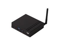 Giada MiniPC F210U fanless, Intel X5 Z8350, 4GB onboard, 64GB eMMC SSD, GB Lan, 2x USB, 1x USB3, HDMI + VGA, Black