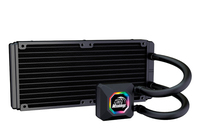 Akasa Venom R20 Performance 240mm Intergrated RGB Liquid Cooler Kit (Asus Aura, MSI Mystic, Gigabyte Fusion Certified) - Additional FANS required