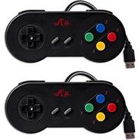 Rii GP100 2 pack - USB Game Pad - Retro Controller, Super Nintendo Controller, PC Controller, Raspberry Pi Controller, Windows PC, MAC, Raspberry Pi