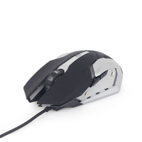 Gembird Gaming muis USB, programmeerbaar, 1200 - 3200 dpi instelbaar / 7 color RGB led, *USBAM