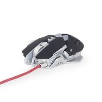Gembird Gaming muis USB, programmeerbaar, 600 - 4000 dpi instelbaar / 7 color RGB led, *USBAM