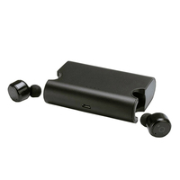 Platinet Bluetooth in-ear earphones + laad station, Bluetooth CRS V4.2, CVC6.0 active noise-cancellation - zwart