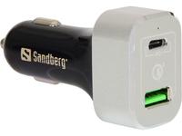 Sandberg Car Charger USB-C PD+QC3.0 63W