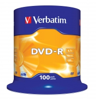 Verbatim dvd-r 120 min. / 4.7gb 16x 100-pack spindel datalife plus, scratch resistant surface