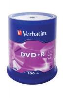 VERBATIM DVD+R 4,7GB 16X CAKE*100 43551, multipack