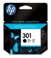 Hewlett packard 301 inktcartridge zwart standard capacity 3ml 190 pagina s 1-pack