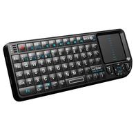 Rii Mini X1 v3, wireless (2.4G) keyboard met touchpad en laserpointer, 151 x 59 x 12.5mm, 280 mAh accu