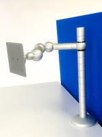 R-Go E-Motion Monitorarm, verstelbaar, zilver