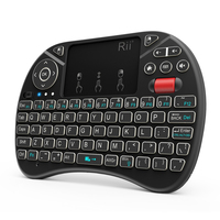 Rii X8 2.4GHz Mini Wireless Keyboard with Touchpad Mouse Combo, LED Backlit, Rechargable Li-ion Battery