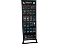 Sandberg Alu Slatwall Display 2-sided - instore demo rack