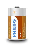 PHILIPS BATERIE LONGLIFE R20 BLI*2 (R20-P2/01B), multipack
