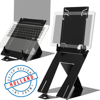 R-Go Riser Duo, Tablet en Laptop standaard, verstelbaar, zwart