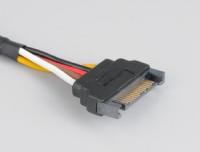 Akasa SATA Power verlengkabel 15 pin, 30 cm, *SATAM, *SATAF