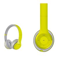 Freestyle foldable Bluetooth Headset (BT 5.0, microSD slot, Line-in, FM radio) met microfoon en USB laadkabel, 100u stdby/8u play) 150gram - Groen/grijs