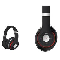 Freestyle FH0916B Bluetooth Headset (BT 5.0, microSD slot, Line-in, FM radio) met microfoon en USB laadkabel, 100u stdby/8u play) 150gram - Zwart