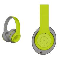 Freestyle FH0916GG Bluetooth Headset (BT 5.0, microSD slot, Line-in, FM radio) met microfoon en USB laadkabel, 100u stdby/8u play) 150gram - Groen/Grijs