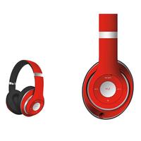 Freestyle FH0916R Bluetooth Headset (BT 5.0, microSD slot, Line-in, FM radio) met microfoon en USB laadkabel, 100u stdby/8u play) 150gram - Rood