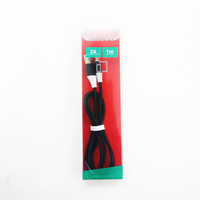 OMEGA FABRIC BRAIDED TYPE-C TO USB 2A 118 COPPER 1M BLACK [44266, *USBCM, *USBAM