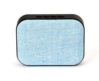 OMEGA Bluetooth 4.1 Wireless Speaker with FM Radio / Handsfree / MicroSD / USB / 3W / Blue fabric