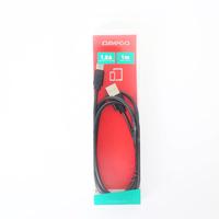 OMEGA METAL TYPE-C TO USB 1.8A 1M BLACK [44216, *USBCM, *USBAM