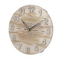 Platinet klok May, houten wandklok, hout, 30cm x 30cm x 4cm, inclusief AA batterij