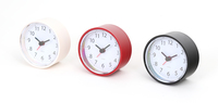 Platinet simpele klok, grote nummers, inclusief batterij, plastic, 9cm diameter, wit