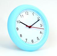 Platinet wandklok Sunday, blauw, simpele moderne wandklok, plastic, inclusief AA batterij