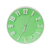 Platinet klok Today green, kleurrijke wandklok, ABS, inclusief AA batterij