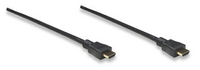 Manhattan High Speed HDMI Cable, 3D, 4K, HDMI Male to Male, Shielded, Black, 15 m (50 ft.), *HDMIM