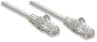 Intellinet Network Cable, Cat6, UTP rj-45 male / rj-45 male, 25 ft. (7.5 m), grey, *RJ45M