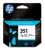 Hewlett packard 351 inktcartridge drie kleuren low capacity 3.5ml 170 pagina s 1-pack