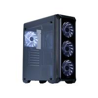 Zalman i3 Edge, ATX Mid Tower PC Case / - Pre-installed fan : 3 x 120mm white LED fan in front & / 1 x 120mm white LED fan in rear / - Drive bays : 2 x 3.5 & 3 x 2.5 / - Arcyl window on front & left side / - Dimension : 457(D) x 195(W) x 468(H)mm