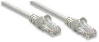 Intellinet Network Cable, Cat6, UTP rj-45 male / rj-45 male, 3 ft. (1.0 m), grey, *RJ45M