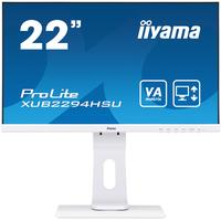 IIYAMA ProLite XUB2294HSU-W1 22inch Full HD monitor wit, in hoogte verstelbaar with VA panel