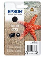 Epson 603 zwart, 3.4ml, origineel, blister, voor expression home xp-2100, 2105, 3100, 3105, 4100, 4105 workforce wf-2810, 2830, 2835, 2850