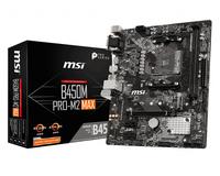 MSI B450M PRO-M2 Max, micro ATX, Socket AM4, AMD B450 - USB 3.1 Gen 1 - Gigabit LAN