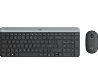 Logitech slim wireless combo mk470 - toetsenbord en muis set -, draadloos, 2.4 ghz, grafiet