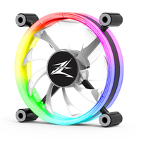 Zalman ZM-LF120, Premium double-sided 120mm Ring LED Fan / - High air volume / - Sleek and artistic design / - Designed for minimized vibration and noise / - Addressable RGB sync for stunning RGB ef./ Long lasting 50,000hours life span(EBR)