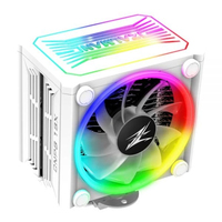 Zalman CNPS16X WHITE, Dedicated spectrum RGB cover and fans / 120mm addressable RGB fans x 2 / Compatible with Z.SYNC for RGB control / 4 heatpipes / Advanced FDB bearing / STC8 thermal compound included / TDP 150