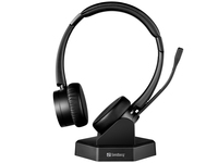 Sandberg Bluetooth Office Headset Pro+, Bluetooth 5, Dual connection, Charging base