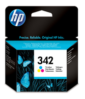 HP 342 inktcartridge drie kleuren standard capacity 5ml 220 pagina s 1-pack