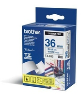 Brother P-Touch TZE-263 blue on white 36mm