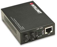 Intellinet 10/100base-tx to 100base-fx (st) multi-mode, 2 km (1.24 mi) Fast Ethernet Media converter