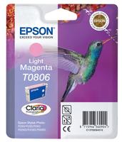 Epson t0806 inktcartridge licht magenta standard capacity 7.4ml 685 pages 1-pack blister zonder alarm